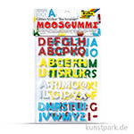 Moosgummi Glitter-Sticker Buchstaben, 100 Stück sortiert