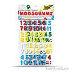 Moosgummi Glitter-Sticker Zahlen, 100 Stück sortiert