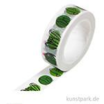 Motiv-Klebeband Washi-Tape - Cactus Family, 15 mm, 10 m Rolle