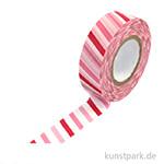 Motiv-Klebeband Washi Tape - Dicke Balken schräg, 15 mm, Rolle 15m
