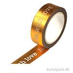 Motiv-Klebeband Washi-Tape - Handmade with Love, 15 mm, 10 m Rolle