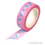 Motiv-Klebeband Washi-Tape - Unicorn, 15 mm, 10 m Rolle