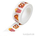Motiv-Klebeband Washi-Tape - Yummy Snacks, 15 mm, 10 m Rolle