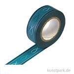 Motiv-Klebeband Washitape - Fisch dunkelblau, 15 mm, 10 m Rolle
