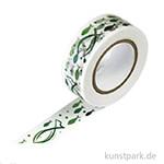 Motiv-Klebeband Washitape - Fisch grün, 15 mm, 10 m Rolle