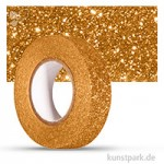 Motiv-Klebeband Washitape - Glitter - 15 mm 5 m Rolle   Gold