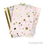 Motivpapier Block - Bouquet Souvage, 30 Blatt