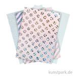 Motivpapier Block - Metallisch Holographisch, 20 Blatt
