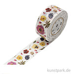 MT Masking Tape Pressed Flower - 25 mm, 15 m Rolle