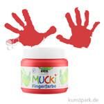 MUCKI Fingerfarbe - cremig & pastos 150 ml | Rot