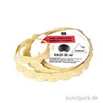 Muschelsaumen - Gold Glitzer, 2 m