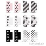 My Planner - Kleberegister Black + Rosé, 12 Stück sortiert