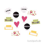 My Planner - Kleberegister - Happy, 12 Stück sortiert