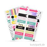 My Planner - Sticker Symbole - Happy, 4 Blatt sortiert