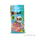 NABBI Bügelperlen - Glitter Farben, 5x5 mm 1.100 Stück