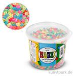 NABBI Bügelperlen - Neonfarben, 5x5 mm