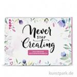 Never stop creating - Kreatives Geschenkpapierbuch, TOPP