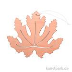 Oranges Ahornblatt aus Holz mit Hänger, Breite 15 cm
