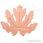 Oranges Ahornblatt aus Holz mit Hänger, Breite 20 cm