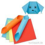 Origami Papier - Basisfarben 80g, 15x15 cm, 5 Farben sortiert 50 Blatt