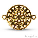Metall-Zierlement mit Ösen – Ornament Rund, 15 mm, 1 Stück