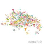 Pailletten-Streuteile - Herzchen, 4 mm, 15 g Bunt