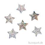 Pailletten Streuteile - Sterne, 1,6 cm, 15 g Silber irisierend