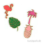 Palm Beach Collection - Emaille Pins, 4 Stück
