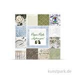 Paper Pack - Hydrangeas, 24 Blatt, 190 g 15,3 x 15,3 cm