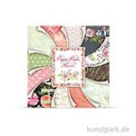 Paper Pack - Roses, 24 Blatt, 190 g 15,3 x 15,3 cm