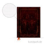 PAPERBLANKS Dot-Grid Planer - Schwarzes Marokkoleder, 180x230mm