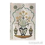 PAPERBLANKS Notizbuch - Blumen des Taj Mahal - Shah, 95 x 140 mm