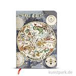 PAPERBLANKS Notizbuch - Frühere Kartographie - Himmlische Karte, 120 x 170 mm