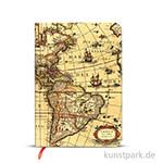PAPERBLANKS Notizbuch - Frühere Kartographie - Westliche Hemisphäre, 120 x 170 mm