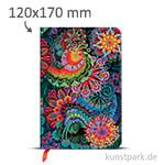 PAPERBLANKS Notizbuch - Olenas Garten - Mondlicht 120 x 170 mm