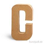 Pappmaché-Buchstaben - handgearbeitet 20,5 cm 20,5 cm | C