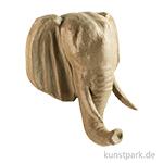 Pappmaché - Elefant Trophäe, groß