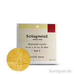Passione Schlagmetall 14 x 14 cm | Gold 2 - 15 Blatt, transfer