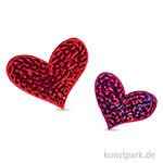Patch zum Aufbügeln - Hearts, 5x4 cm
