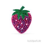 Patch zum Aufbügeln - Strawberry, 4,7x6,3 cm