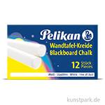Pelikan Wandtafelkreide - Weiß, 12 Stück