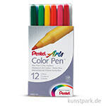PENTEL Arts Colour Pen 12er Set