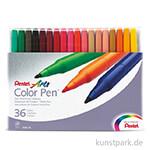 PENTEL Arts Colour Pen 36er Set