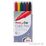 PENTEL Arts Colour Pen 6er Set