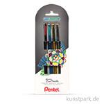 PENTEL Hybrid DualMetallic Glitter Gel Pen 4er Set - Set 2