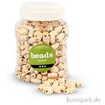 Perlen aus Holz, 5-28 mm, Lochgröße 2,5-3 mm, 400 ml