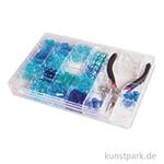 Perlen-Box mit Zange, 185 g - Blau