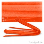 Pfeifenputzer Chenilledraht, 10 Stück, Einzelfarbe 50 cm | Orange