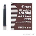 Pilot Pen Patronen 6 Stk - Sepia Braun