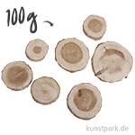 Pinien-Scheiben rund, 3 - 5 cm, 100g sortiert